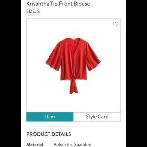 Lush Krisantha tie-front top